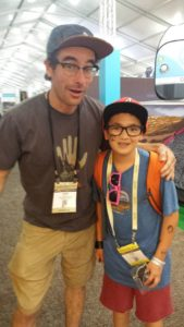Cedar and Ethan at the Outdoor Retailer Show