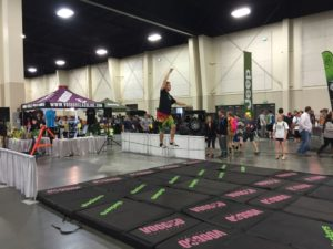 Crazy cool slacklining - Adventure Gear Fest outdoor expo