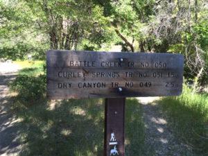 Battle Creek Falls - Trailhead sign